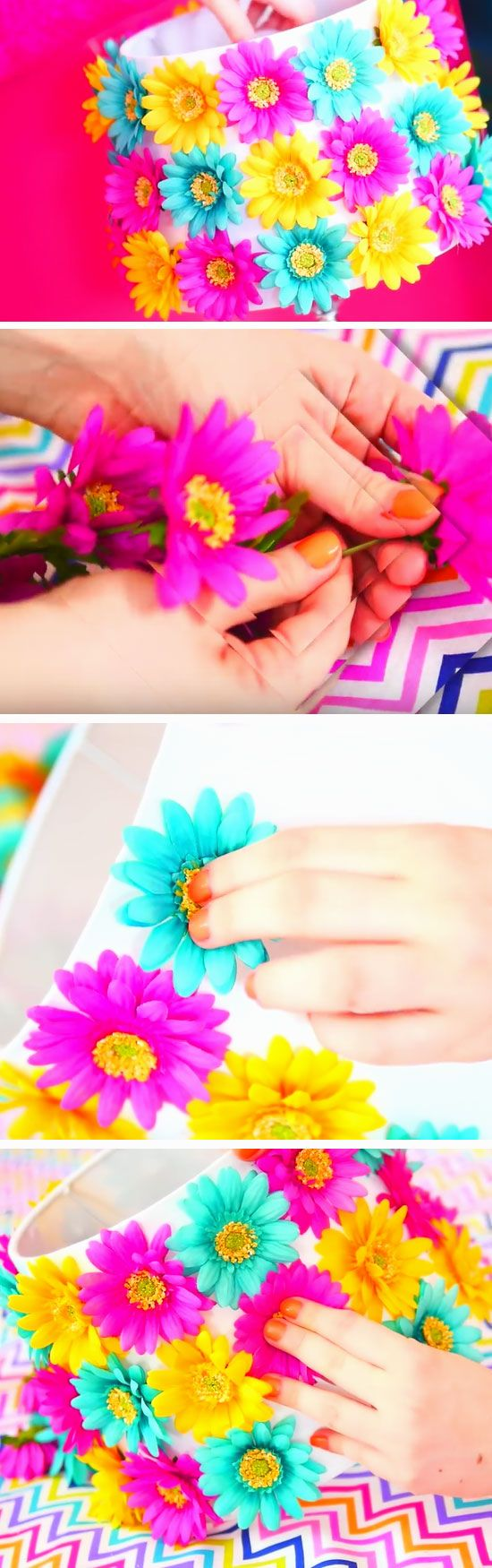 3D Floral Lampshade | 18 DIY Summer Tumblr Room Decor Ideas that are insanely cute!