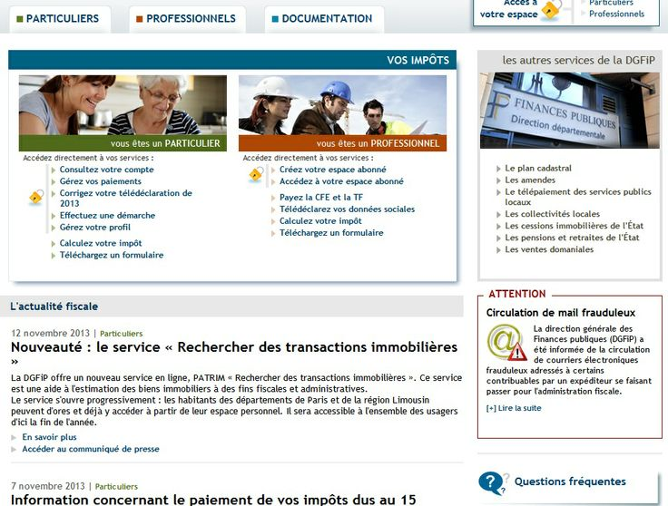www.impots.gouv.fr : Déclaration, Mensualisation, Consulter...