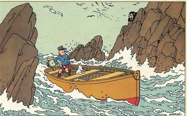 Tintin  ~    The black isle