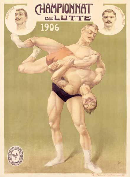 French Championnat de Lutte professional wrestling, 1906.