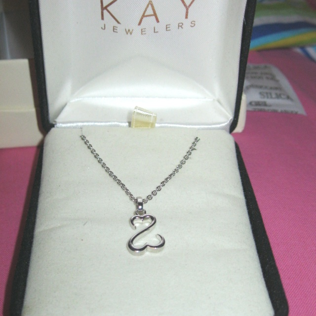open heart pendant from Kay Jewelers