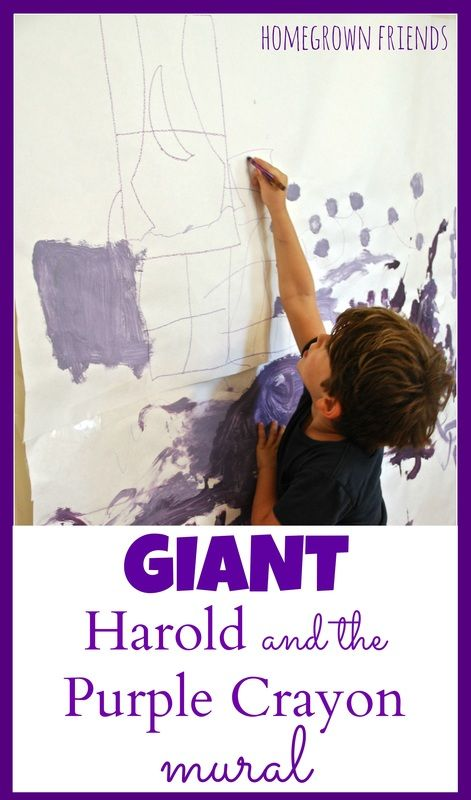 Love this Giant Harold and the Purple Crayon Mural from Homegrown Friends