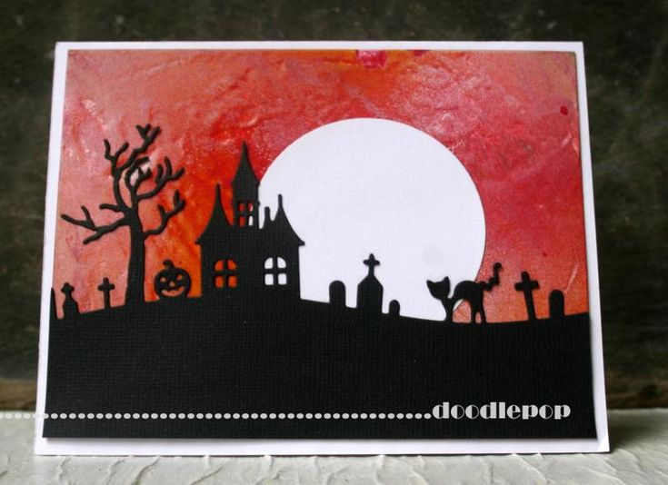 HYCCT1319 - Halloween Scene by doodlepop - Cards and Paper Crafts at Splitcoaststampers