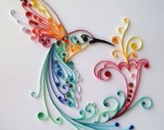 """Quilling Art: """"Bird of Happiness"""" Colourful Paper Art"""