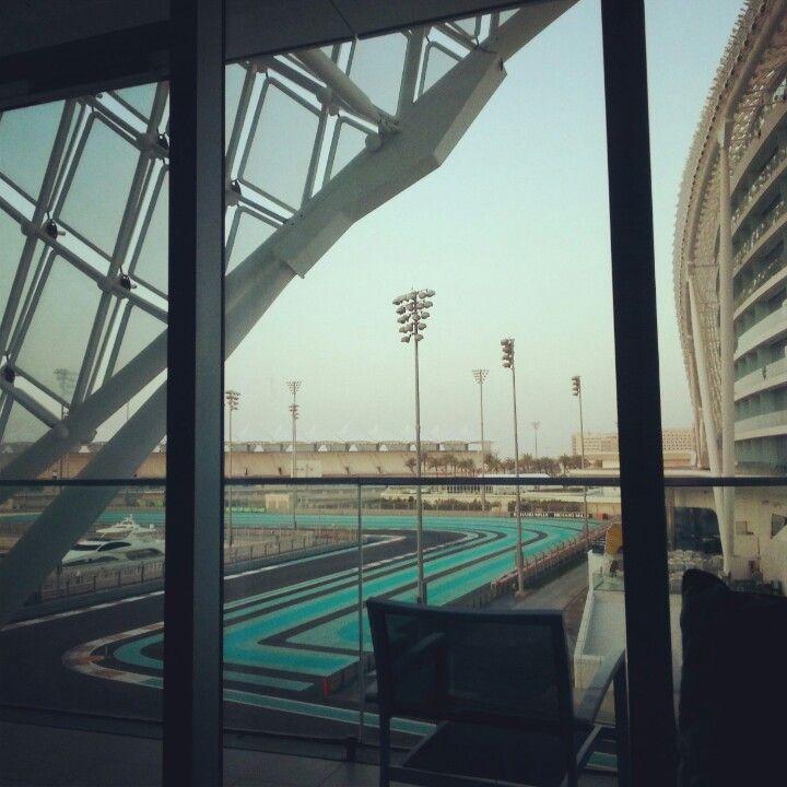 Abu Dhabi F1 circuit view  from Viceroy #Vas Island