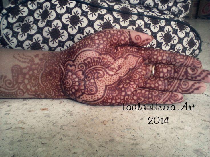 my henna stain, more darker.. #laalahennaart