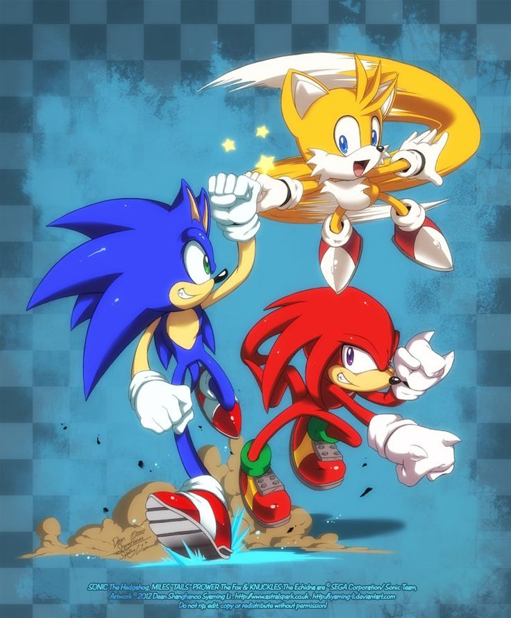"""Team Sonic - Sonic the Hedgehog, Miles """"Tails"""" Prower and Knuckles the Echidna"""