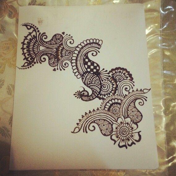 Henna/mehndi design on paper | MK's Mehndi/Henna Designs ...