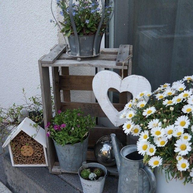 Holzkistchen Mit Hübsch Kleines Schwedenhaus Shabby Chic: 43 Besten Hauseingang Dekorieren Bilder Auf Pinterest