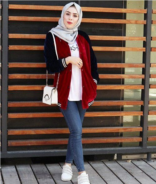 Bomber jacket-Christmas hijab casual wear – Just Trendy Girls