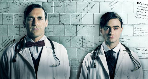 Daniel Radcliffe & Jon Hamm in 'A Young Doctor's Notebook & Other Stories (A very curious comedy)