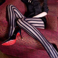 İnce Çizgi Bayan Tayt Külotlu Çorap