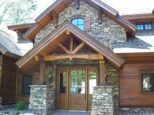 Stacked Stone Craftsman Style Home Dream Home House