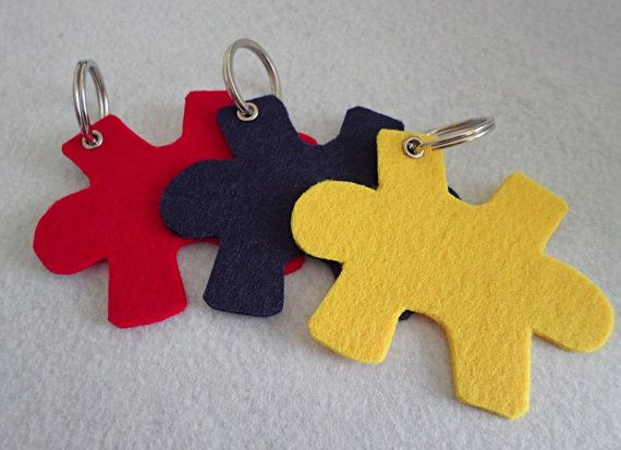 3 pcs puzzle felt keychainFelt keychain in handmadedie by DGNCY