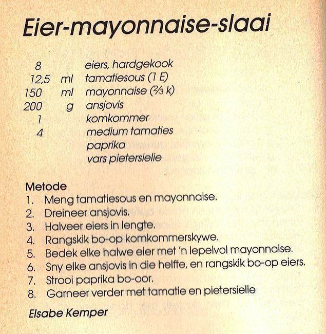 Rainbow Gospel Radio | Eier-Mayonnaise-Slaai