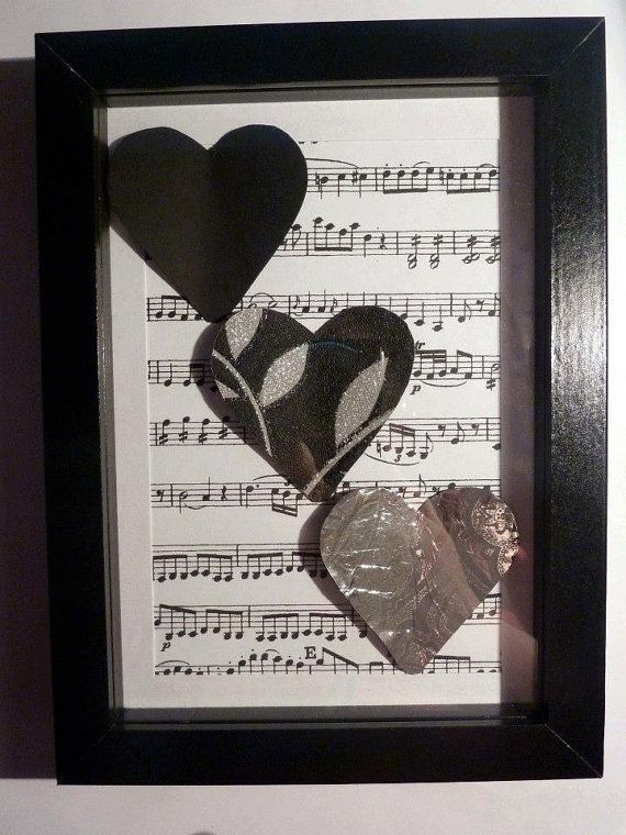 Black and Silver Heart Box Frame by TrinityRoseDesigns on Etsy, £4.00