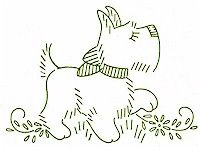 scotty dog embroidery