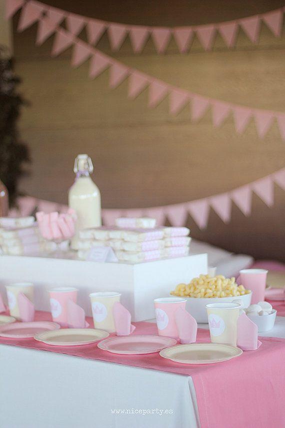 Pack imprimible de fiesta infantil princesas color por NiceParty