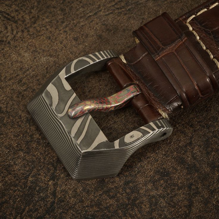 24mm Stainless Damascus Watch Buckle