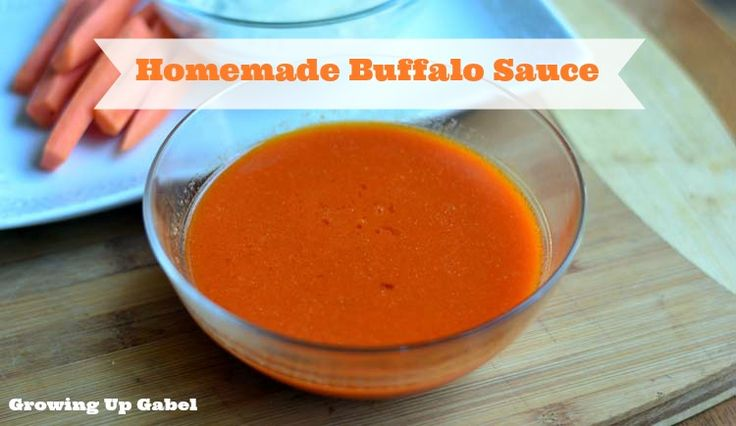 Buffalo sauce...Frank's Hot Sauce. butter, white vinegar, garlic powder
