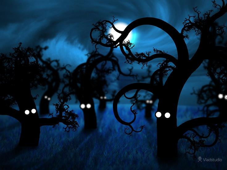 Full Moon In The Midnight Forest Vladstudio Free Desktop Wallpapers Widescreen 2