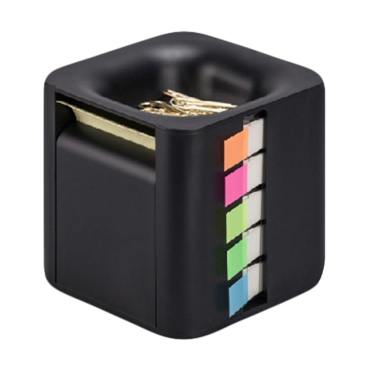 All-In-One Sticky Note Dispenser Index Flag Organizer Paper Clip Tub Pop-up Note #GIFTI