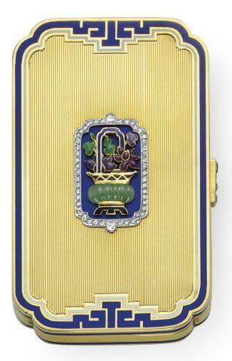 Cartier Art Deco Vanity Case ~ 1925
