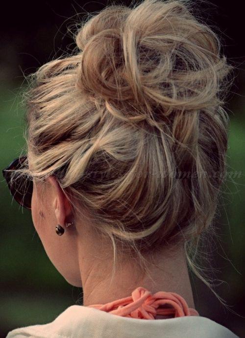 top+bun+hairstyles+-+loose+bun