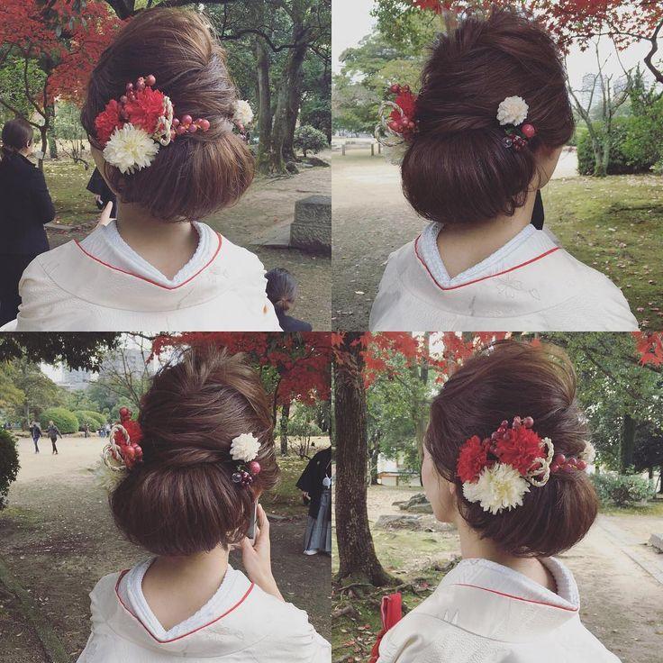 サンプル用に記録pic ・ ・ @dsw0211 ・・・・ ・ ・ #秋#hairarrange #bridal #hair #hairstyle #bridalhair #外国人風ヘアー#ブライダルフォト #ブライダルヘア #ウエディングフォト #igwedding #写真好きな人と繋がりたい #写真撮ってる人と繋がりたい #プレ花嫁 #cute#like4like#beauty#波ウェーブアレンジ#生花#cute #ゆるふわ#ルーズアップ#love#loveit#挙式ヘア #ルーズアップ#波ウェーブ#色打掛#白無垢#和装