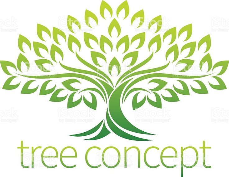 Icône Concept arbre stock vecteur libres de droits libre de droits