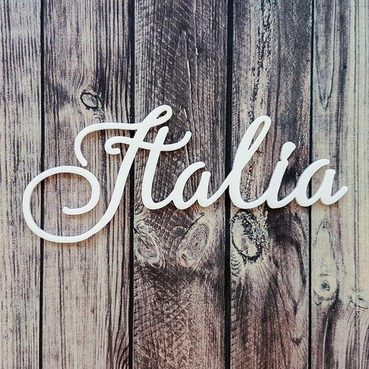 NőiCsizma | Italia- akril címfelirat