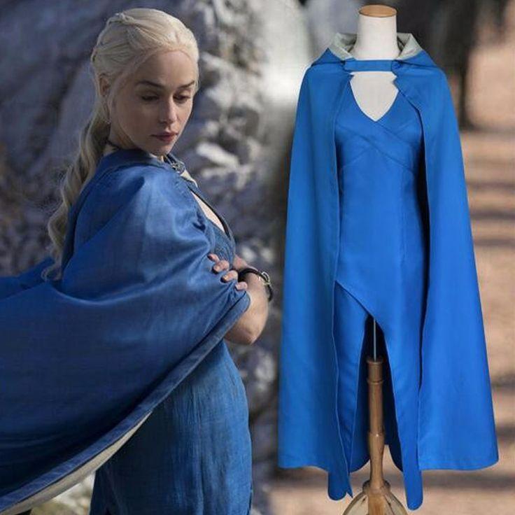Game of Thrones Daenerys Targaryen Blue Dress Costume