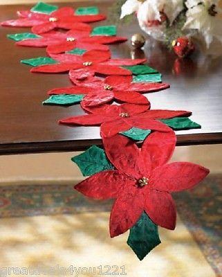 Poinsétia pointsetta poinsetta corredor da tabela Vermelho Floral De Natal Decoração de férias