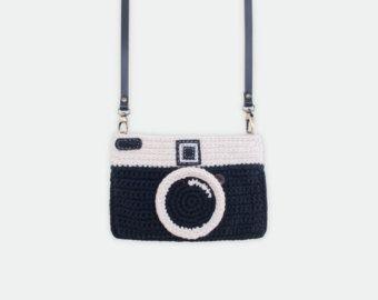 Crochet Lomo Camera Purse/ Pastel Mint Color by meemanan on Etsy