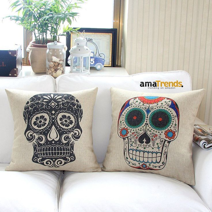 Home Style Cotton Linen Decorative Couple Throw Pillow