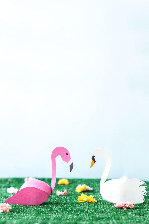DIY Swan + Flamingo Easter Eggs   studiodiy.com