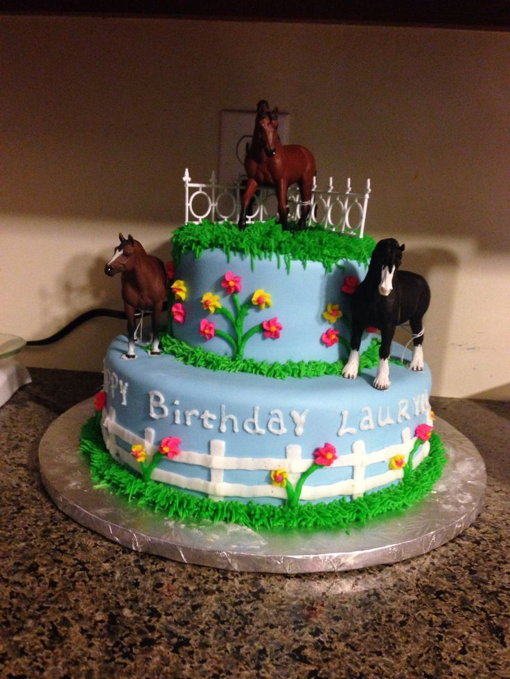 Horse cake, perhaps with one layer