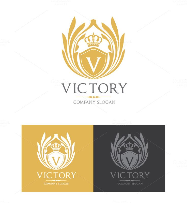 Victory Logo Template by Super Pig Shop on Creative Market
