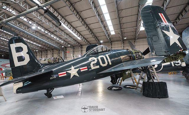 The Grumman Bearcat in the Hangar at #duxford for Winter Maintenance. #warbird #warplane #ww2 #ww2planes #ww2history #wwiiaviation #secondworldwar #avgeek #aviationphotography #militaryaviation #planesspotter #aircraftphotography #excellentaviation #grummanbearcat #sonya7riii
