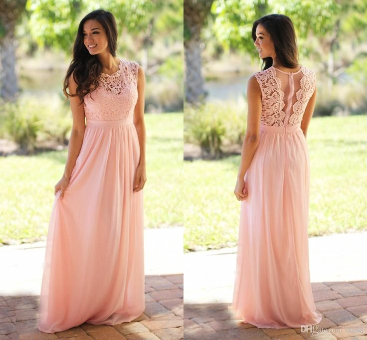 Sweetheart Neckline Lace Padded 2017 Light Sky Pink Bridesmaid Dress Cheap Crochet Maxi Dress with Tulle Back Chiffon Pleated Flowy Skirt Bridesmaid Dress Coral Bridesmaid Dresses 2017 Bridesmaid Dresses Online with $70.86/Piece on Olesa's Store | DHgate.com