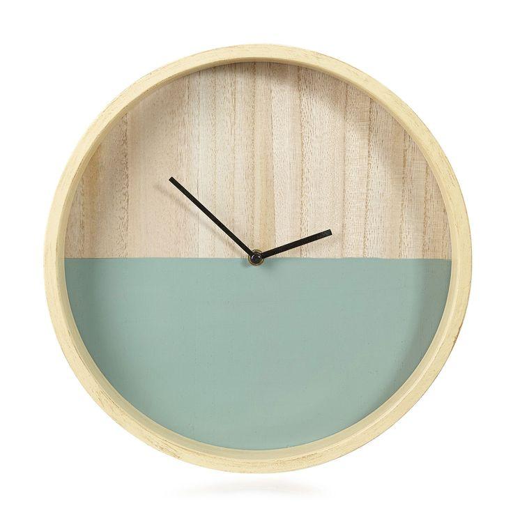 Horloge verte D34cm - Julia - Horloges-Horloges, Réveils-Toute la déco-Par type de produit - Décoration intérieur - Alinea