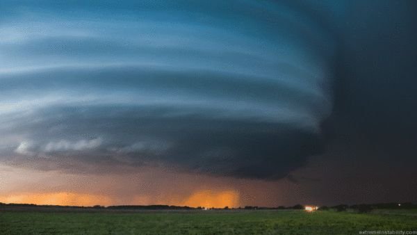 Ominous Supercell Thunderstorms Animated from a Single Photograph by Mike Hollingshead