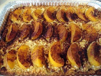 Peach Kugel | Food--Kosher | Pinterest | Peaches, Foodies and New York