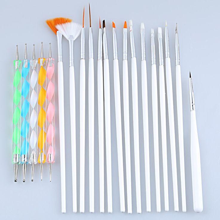 Professionelle Nageldesign Set Punktierung Malerei Zeichnung Pen Polnischen werkzeuge Für UV Gel Nagel Werkzeug Heiße Verkäufe Geeignet Für Blending