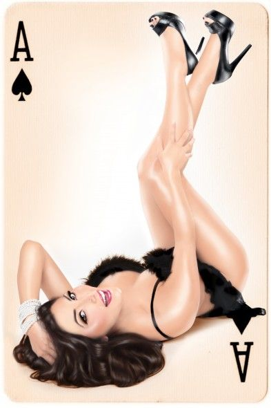 pinup photography.... love the idea of the ace....