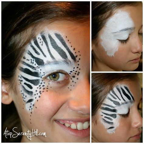 Face Painting Stenciled Animal Prints