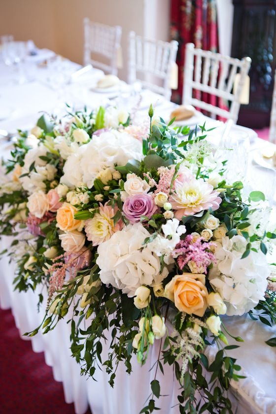 17 best images about bride and groom table on pinterest for Flower sprays for weddings