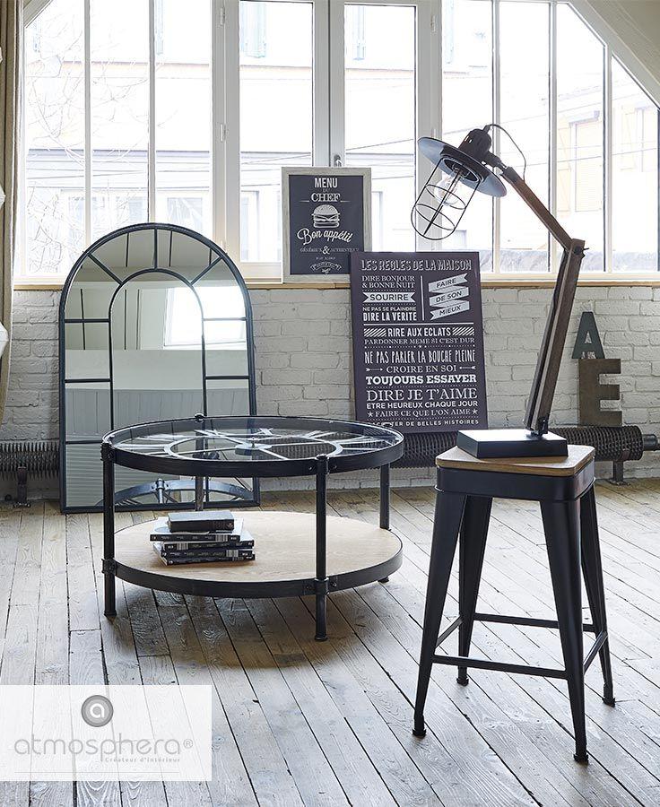 Le Style Industriel By Atmosphera Table Basse Table Basse Fer Bois