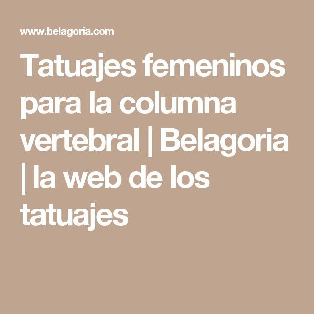 Tatuajes femeninos para la columna vertebral | Belagoria | la web de los tatuajes