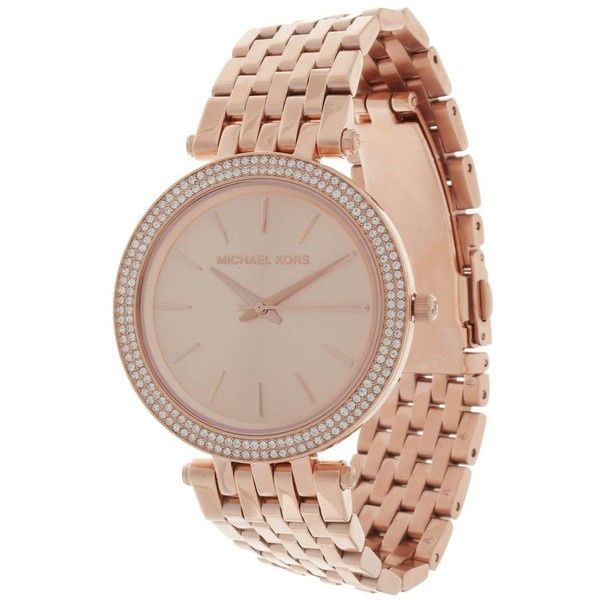 Michael Kors Uhr rosé gold ($305) ❤ liked on Polyvore